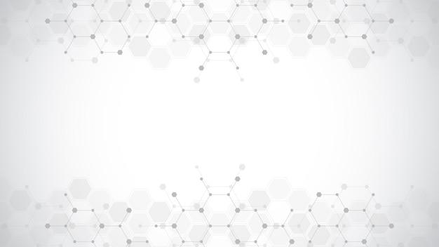 Representación del diseño del patrón de hexágonos