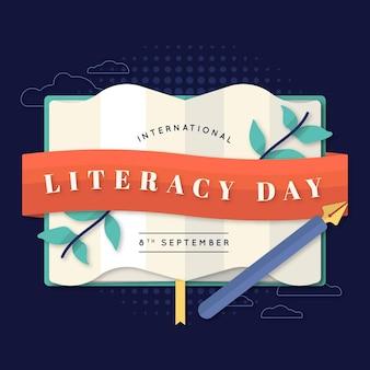 Representación del evento del día internacional de la alfabetización