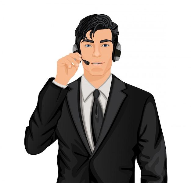 Representante de servicio al cliente hombre