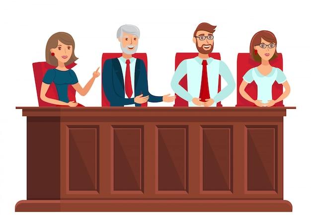 Representantes del jurado