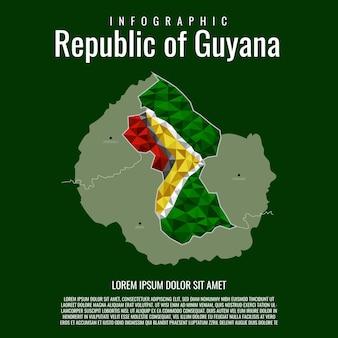 República de infografía de guyana