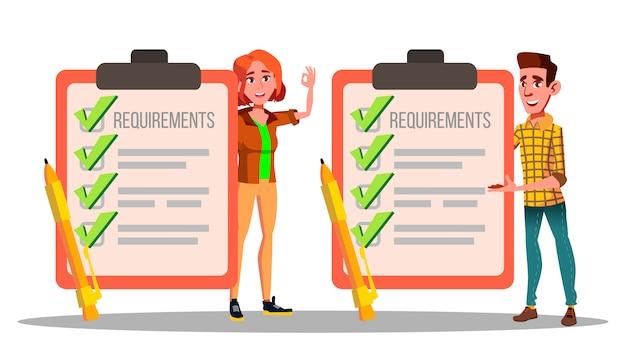 Requisitos, lista de verificación, calendario, cumplimiento