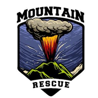 Rescate en montaña en erupción