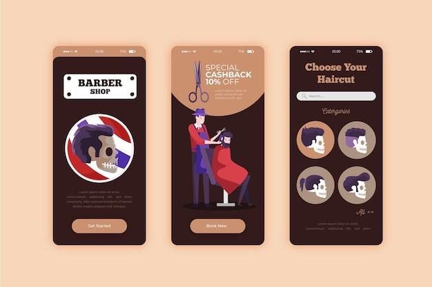 Reserva para la aplicación de teléfono inteligente barber shop