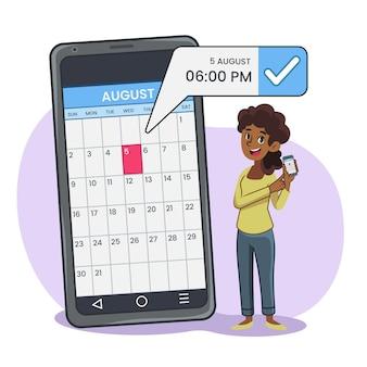 Reserva de citas en el móvil