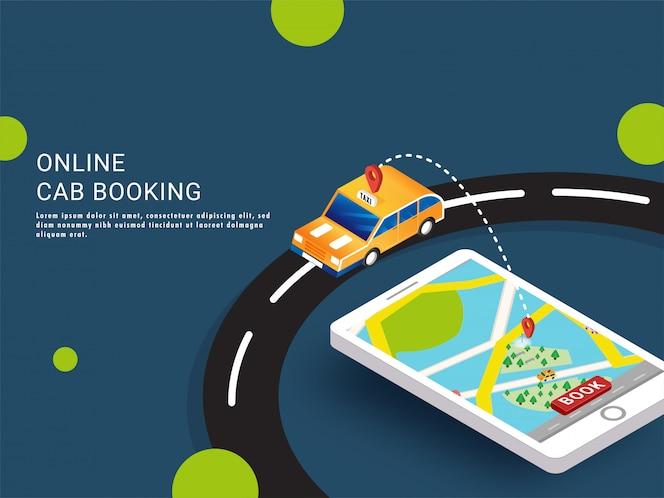 Reserva de taxi en línea.