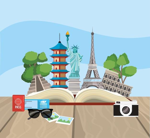 Reserva con destino de viaje global