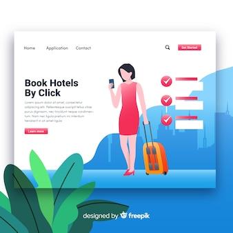 Reserve la página de destino de los hoteles