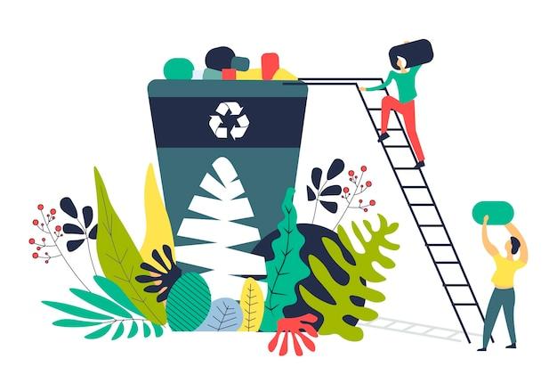 Resolviendo problemas ecológicos separando la descarga de residuos