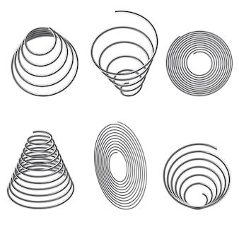 Resortes de acero. juego de resortes en espiral.