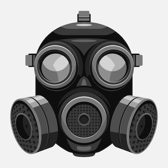 Respirador de máscara de gas ilustrado