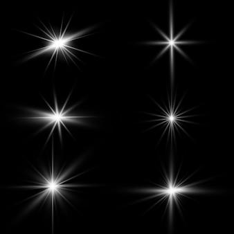 Resplandor de efecto de luz. lucero. el sol brillante transparente, destello brillante.