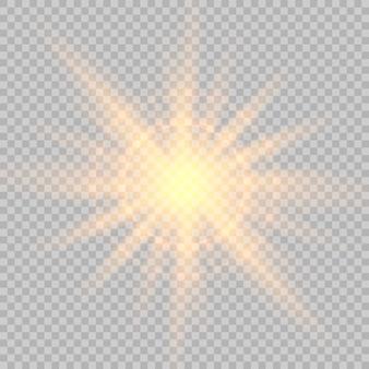Resplandor de efectos especiales de luz, bengala, estrella y explosión.