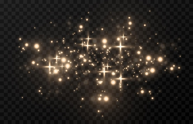 Resplandor mágico. luz brillante, chispa, chispa, polvo chispeante png. polvo mágico espumoso. luz de navidad.