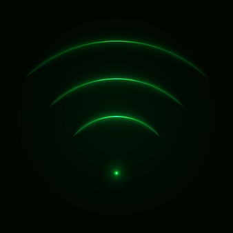 Resplandor de neón wifi señal.