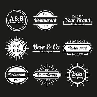 Restaurante cafe retro logo collection