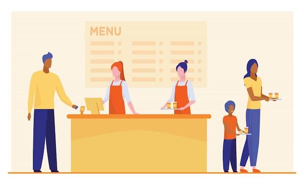 Restaurante de comida rápida mostrador