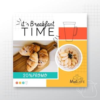 Restaurante de desayuno flyer square