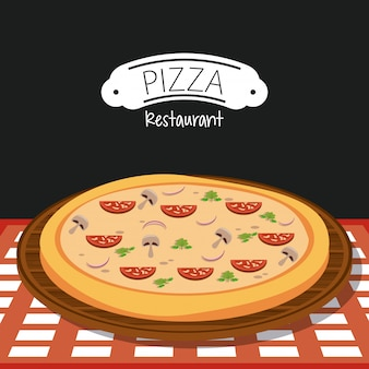 Restaurante italiano de pizza