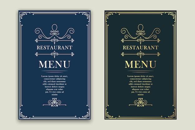 Restaurante de menú retro, publicidad u otro diseño y lugar para el texto.