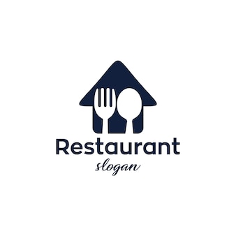 Restaurante moderno y simple logo design