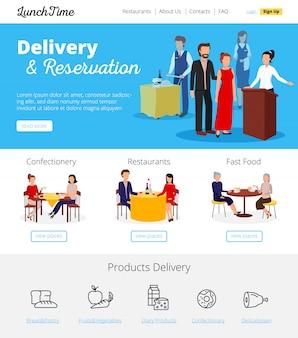 Restaurante de pedidos en línea de entrega