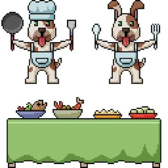 Restaurante de perros pixel art