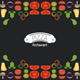 Restaurante de pizza de comida rápida.