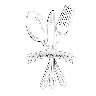 Restaurante y vajilla de cocina.