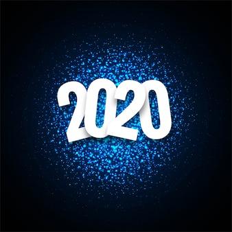 Resumen 2020 año nuevo saludo fondo