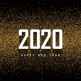 Resumen 2020 año nuevo texto celebración en brillos