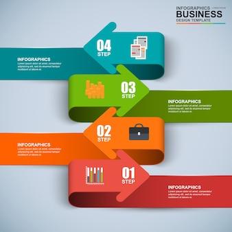 Resumen 3d negocio digital flecha infografía