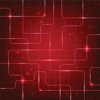 Resumen de alta tecnología de fondo rojo