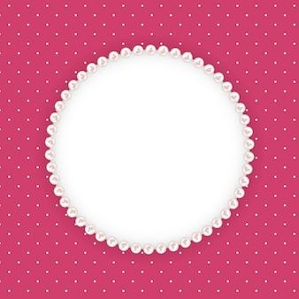 Resumen antecedentes beautuful con marco de perlas.