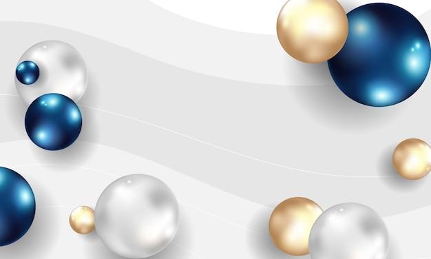 Resumen de antecedentes con la bola. azul y burbujas.