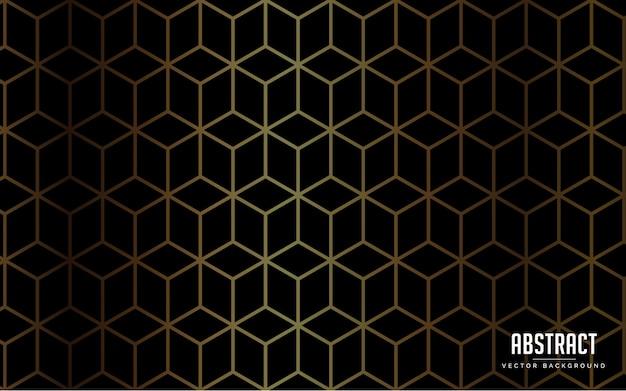 Resumen de antecedentes de lujo de color negro y color dorado moderno