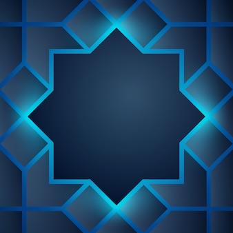 Resumen de antecedentes resplandor árabe geométrico
