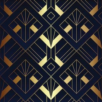 Resumen art deco de patrones sin fisuras