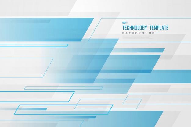 Resumen azul y blanco de fondo de diseño de superposición de plantilla de tecnología futurista.