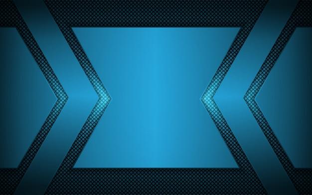 Resumen azul claro sobre fondo oscuro