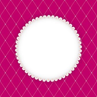Resumen beautuful con marco de perlas. ilustración