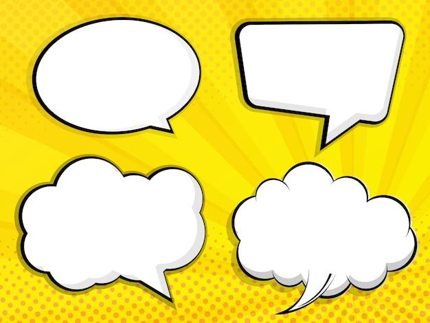 Resumen en blanco discurso burbuja cómic