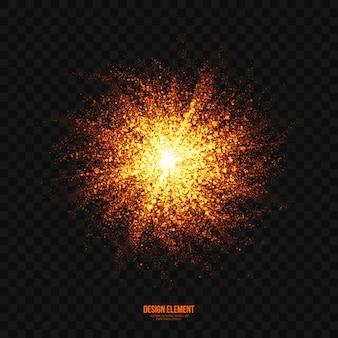 Resumen brillante efecto de explosión transparente vector