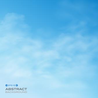 Resumen de cielo azul con fondo de nubes.