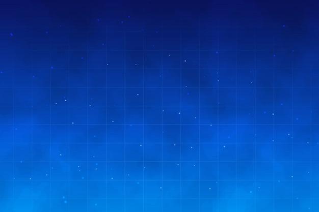 Resumen cielo nocturno con estrellas y nubes con efecto humo.