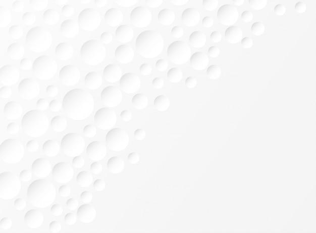 Resumen. círculo en relieve fondo blanco. luz y sombra. copyspace