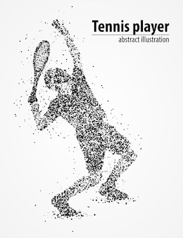 Resumen círculos negros de refuerzo de pelota de tenis. ilustración.