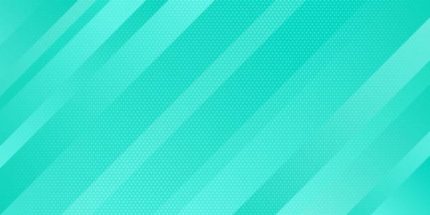 Resumen de color azul claro degradado y textura de puntos estilo de semitono con líneas oblicuas rayas de fondo.