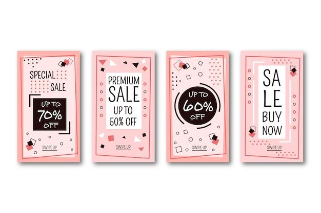Resumen colorido diseño instagram historias de venta