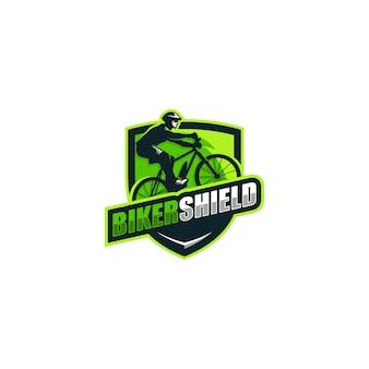 Resumen concepto bikers ilustración vectorial plantilla de diseño